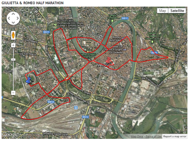 giuliettaromeohalfmarathonmap
