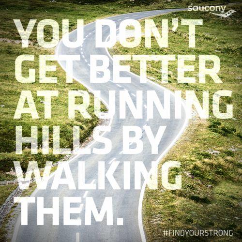 running hills