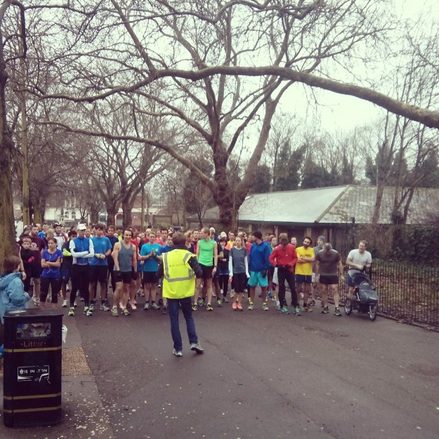 The start of Highbury Fields Parkrun