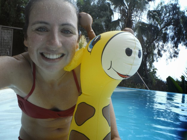 My latest pool training involved more giraffes than goggles.