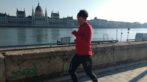 running in budapest along the danube